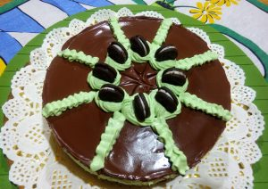 Chocolate mint cake (no oven required)